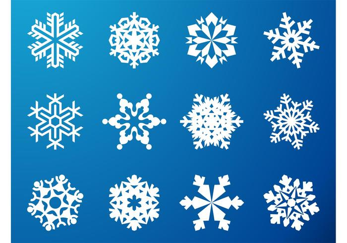 Snowflake Graphics Set