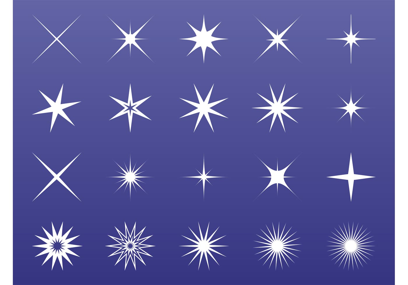 Download Free Vector Art Stock: Stars And Sparkles Graphics