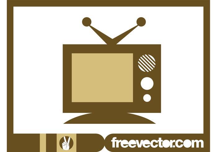 Retro TV Icon Graphics
