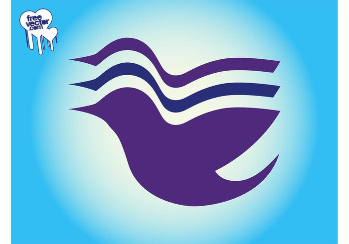 Logo de ave voladora