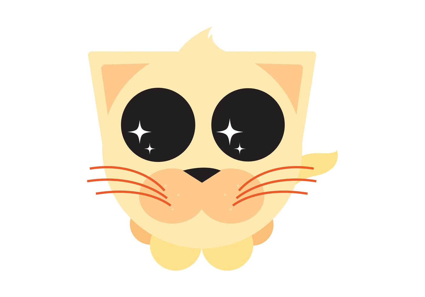 Cute Cartoon Kitty - Download Free Vector Art, Stock ...