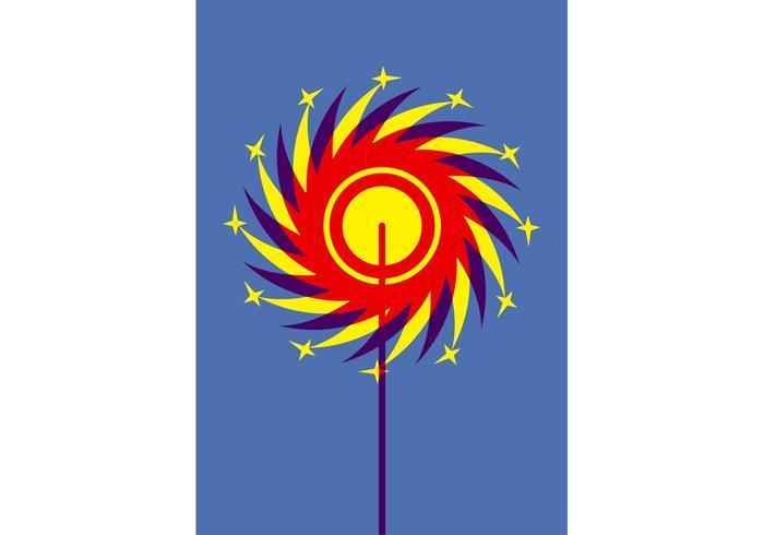 Colorful Pinwheel Graphics