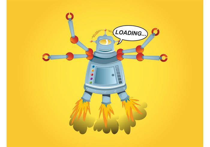 Cartoon Robot Graphics