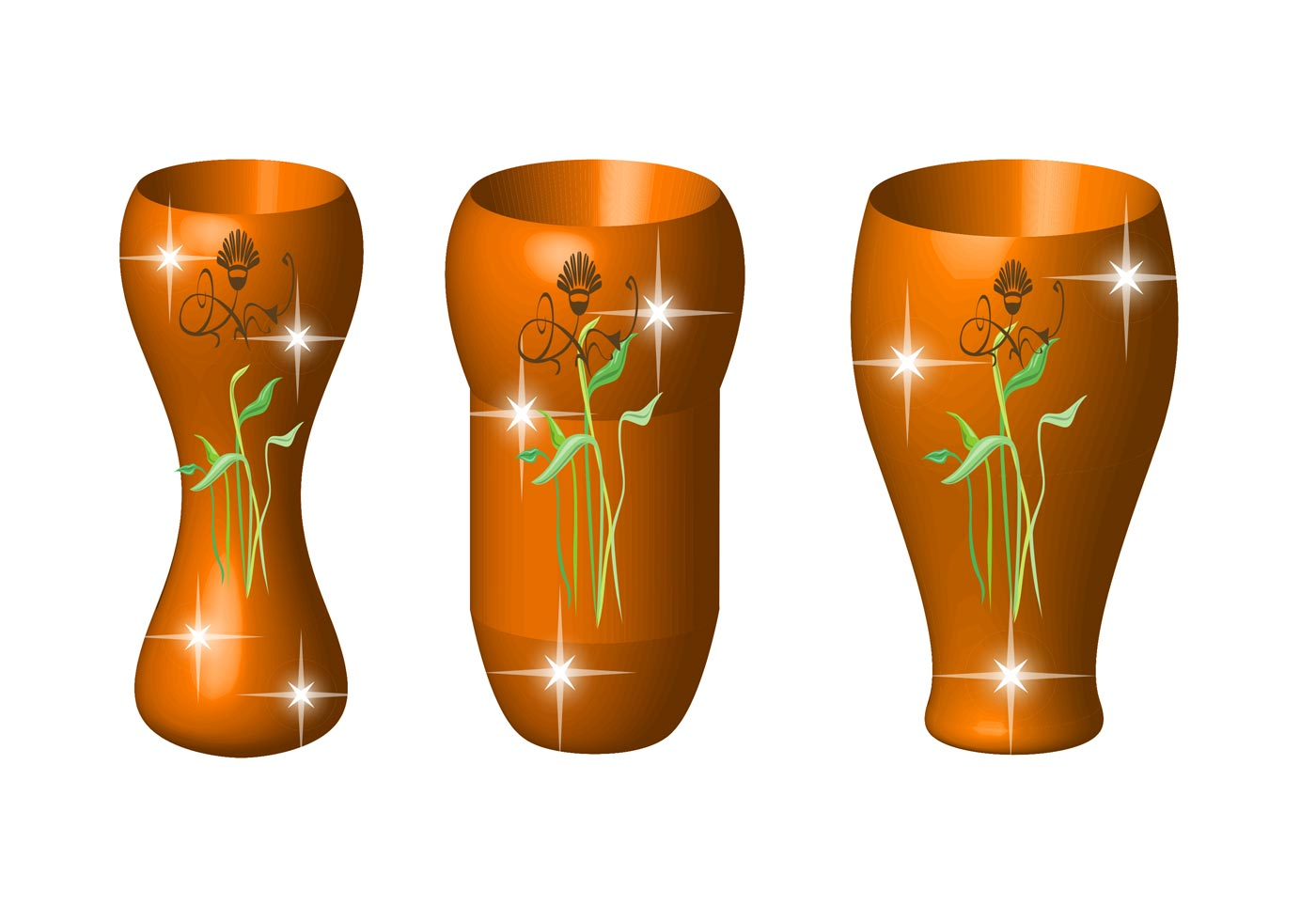 Vases With Flowers Download Free Vector Art Stock