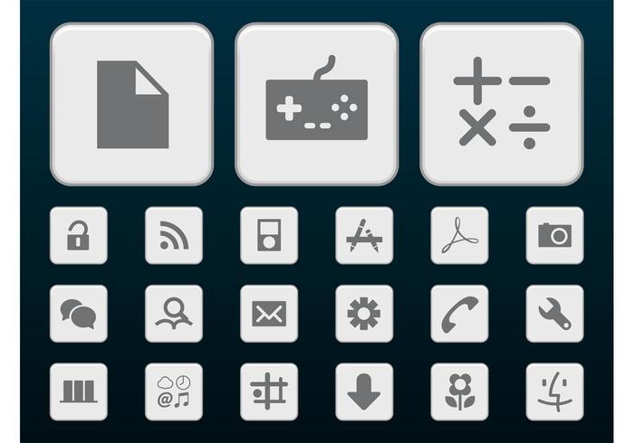 Gray Tech Icons vector