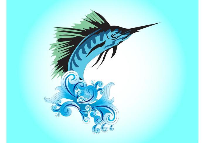 Jumping Marlin Fish