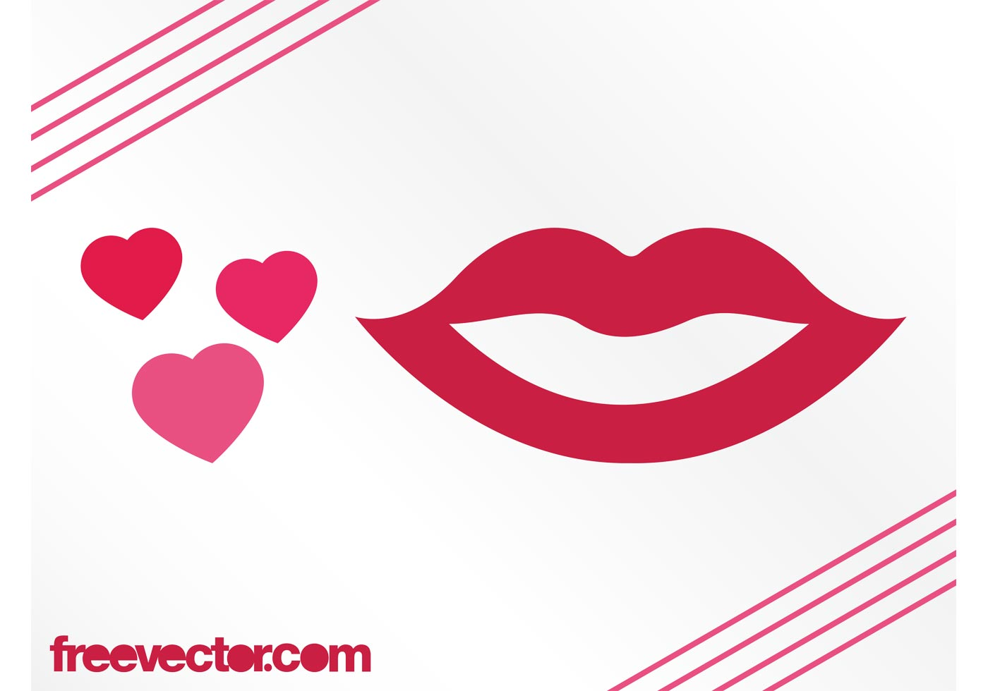 hearts and lips graphics download free vector art stock