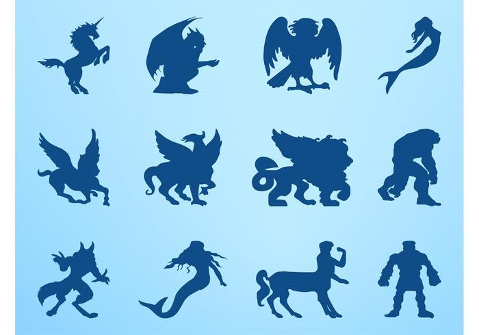 Mythological Creatures Graphics Set