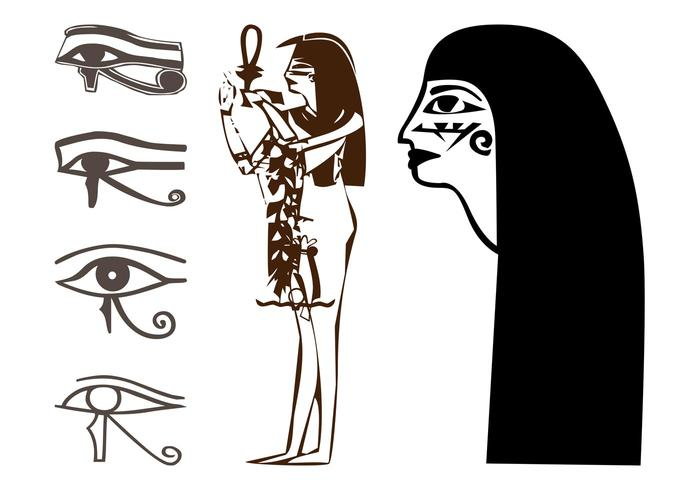 Egyptian Drawings Set
