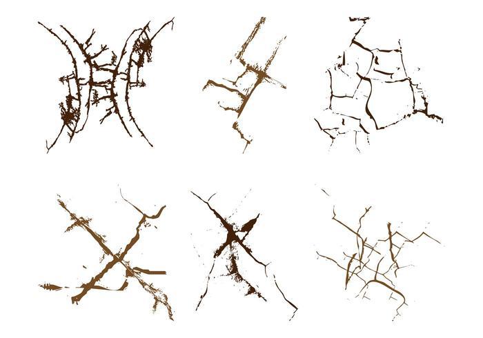 Graphique grunge cracks
