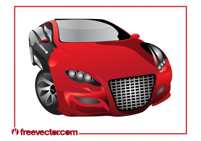 Red Sports Car Graphics