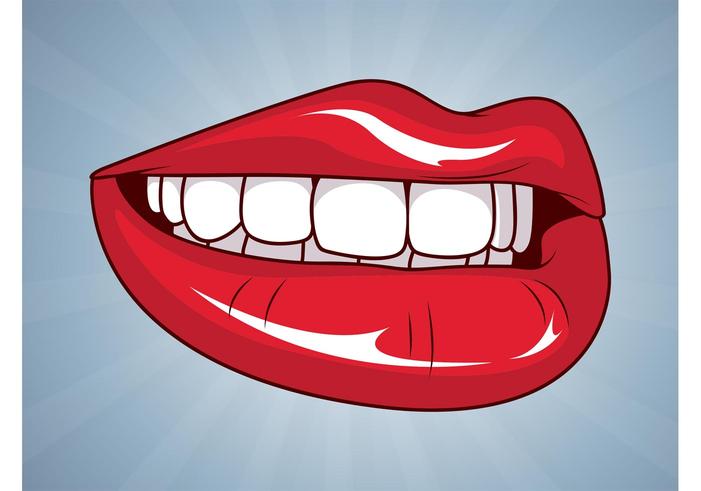 Clipart lips teeth