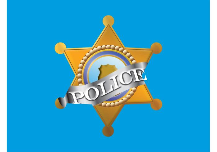 Police Badge Graphics Element