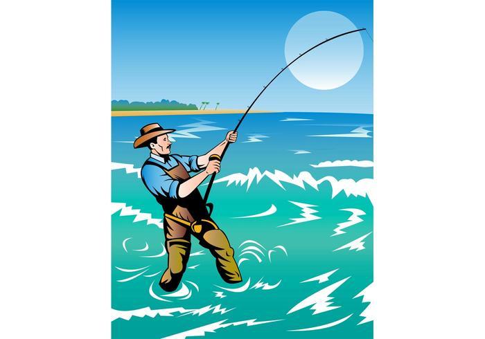 Fishing Man Poster