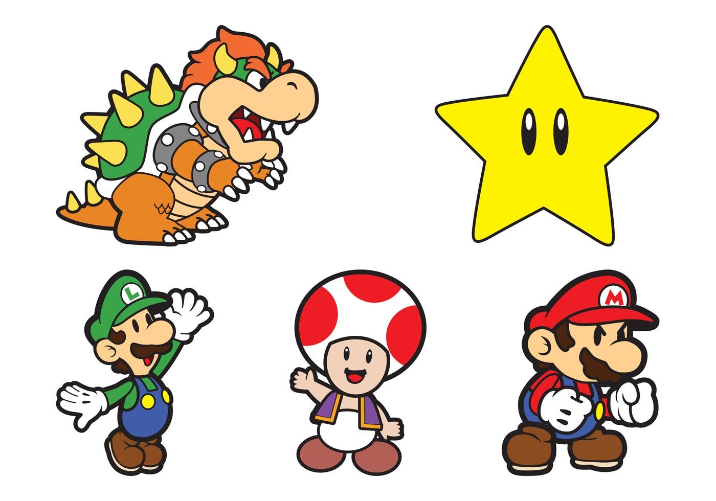Super Mario Characters Download Free Vectors Clipart Graphics