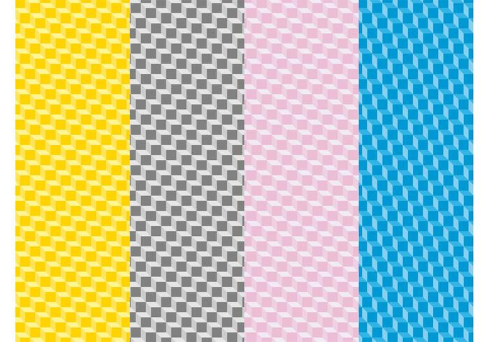 Colorful Patterns With Cubes