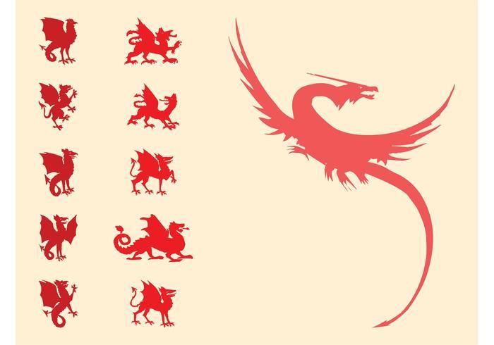 Heraldic Dragons Set