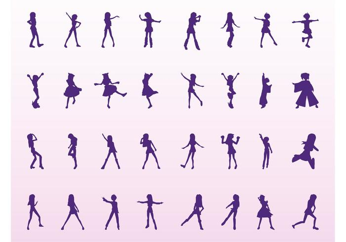 Girl Silhouettes Set