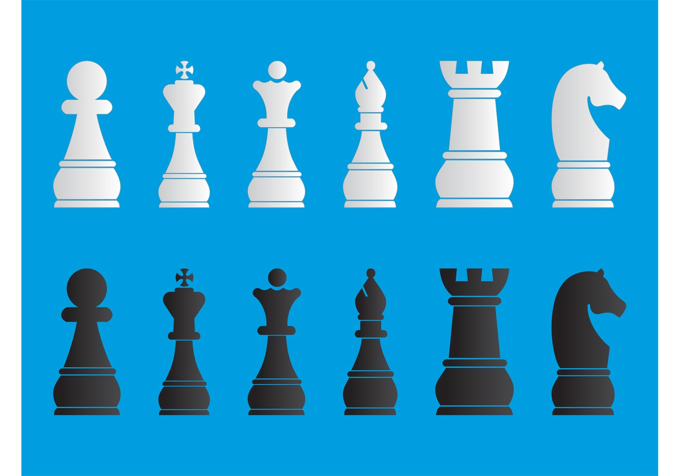 Chess Pieces Set - Download Free Vector Art, Stock ...