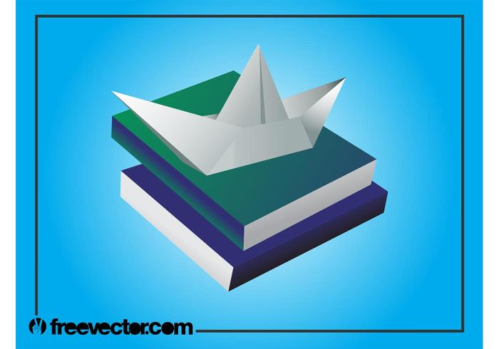 Books And Paper Boat