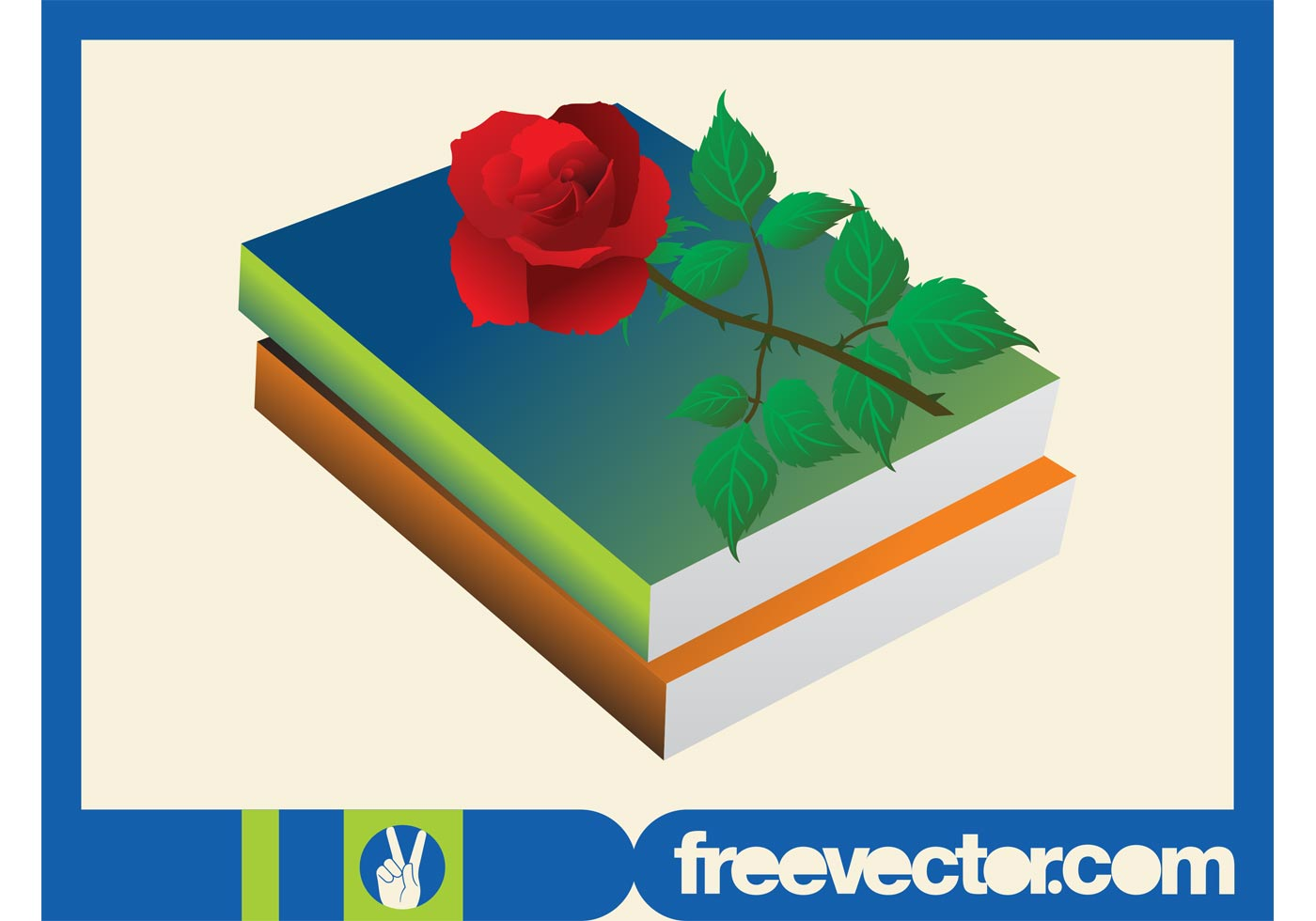 Romance Book Cover Vector : Books and rose download free vector art stock graphics