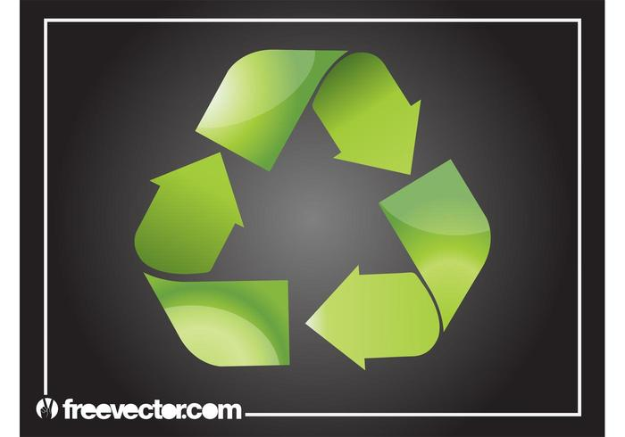 Shiny Recycling Symbol