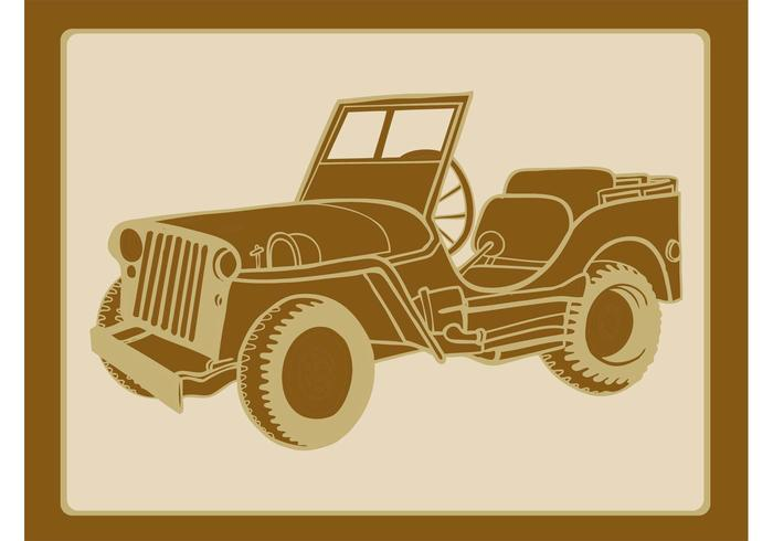 Classic Military Car Graphics