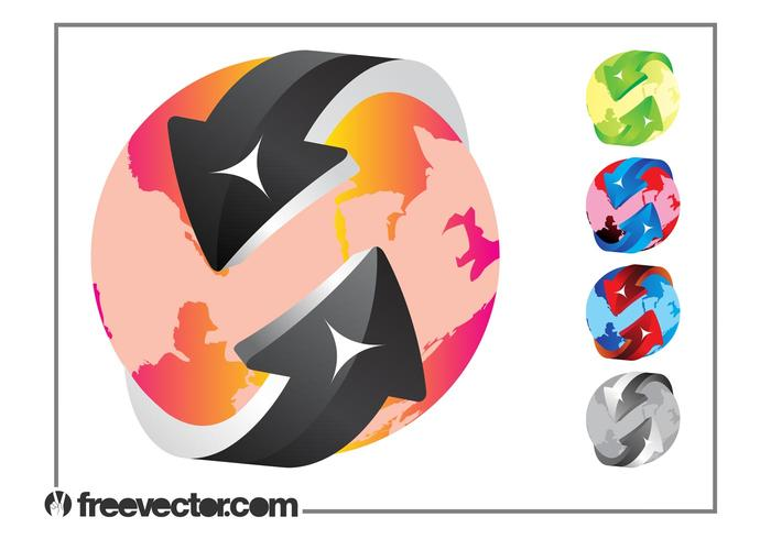 Colorful Globe Designs