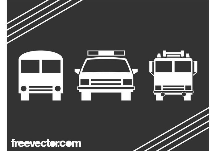 Vehicle Icons Graphics