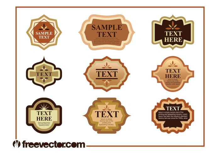 Vintage Product Labels Set - Download Free Vector Art, Stock ...
