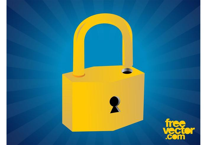 Golden Padlock Graphics