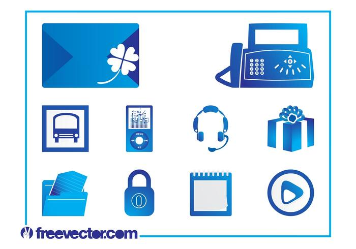 Icons Set Vector Graphics