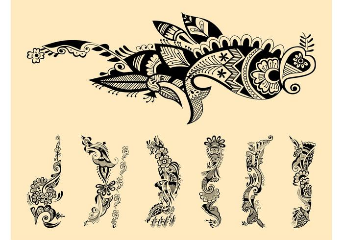 Henna Party Mehndi Kerucut Merah : Henna vector free download makedes