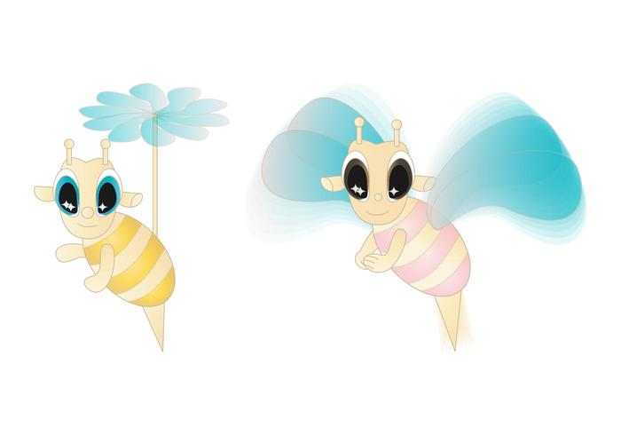 Cute Cartoon Bees