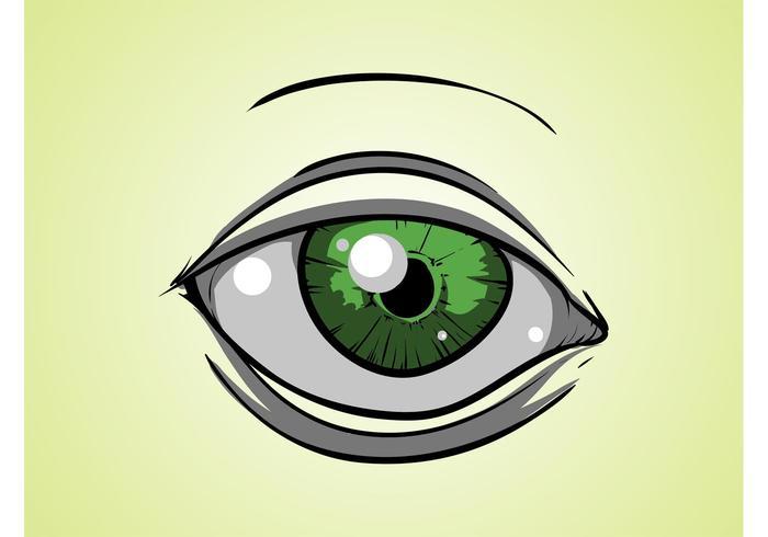 Green Cartoon Eye