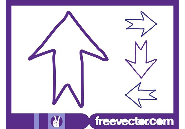Hand Drawn Direction Arrows