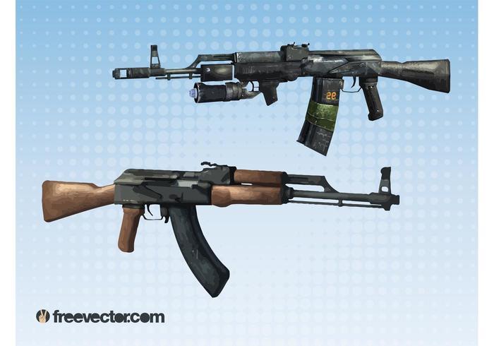 Machine Guns Vectors