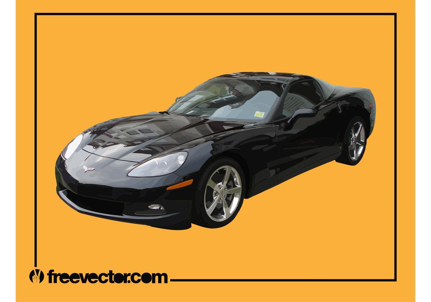 black corvette download free vector art stock graphics