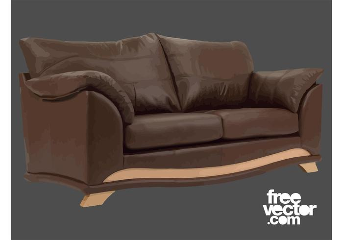 Brown Couch Vector