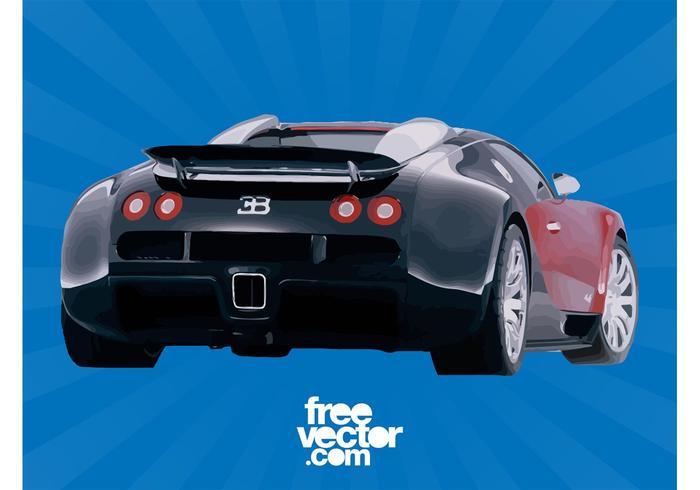 Bugatti Veyron achterkant