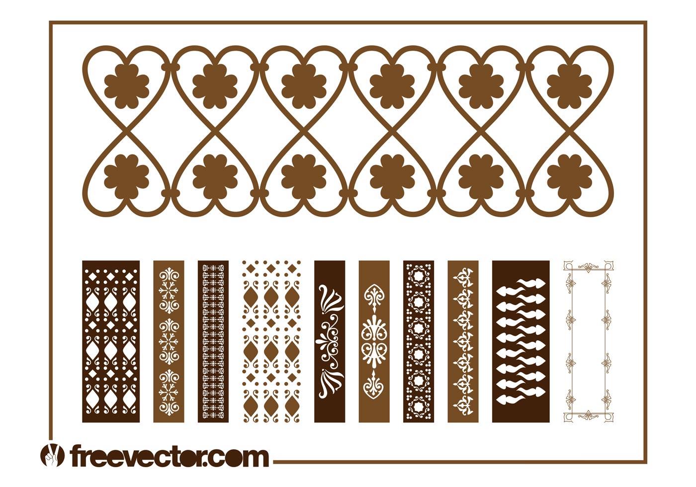Vintage Border Decorations Download Free Vector Art