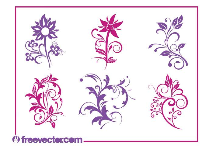 Flowers Graphics Set