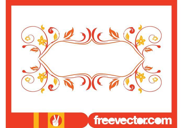 Retro Floral Frame Graphics