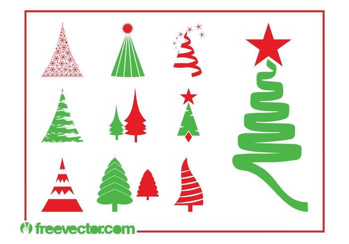 Christmas Trees Graphics Set