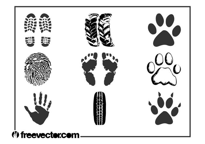 Prints And Traces Vector Set