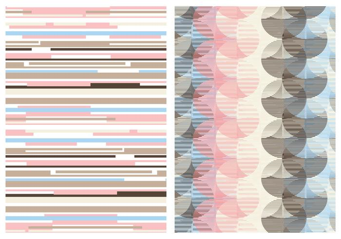 Retro Abstract Pastel Vector Background