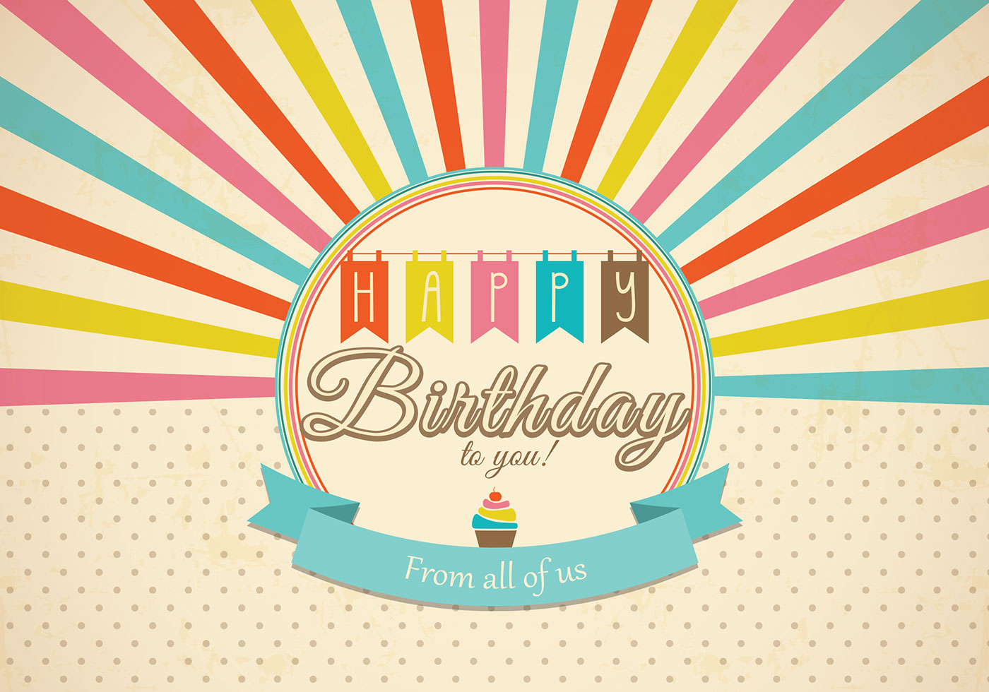 Happy birthday card free vector art 23005 free downloads retro happy birthday card vector stopboris Gallery