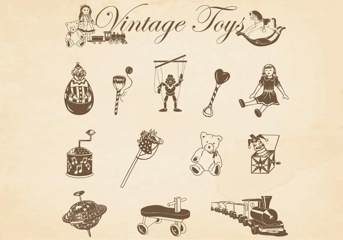Vintage Toys Vectors