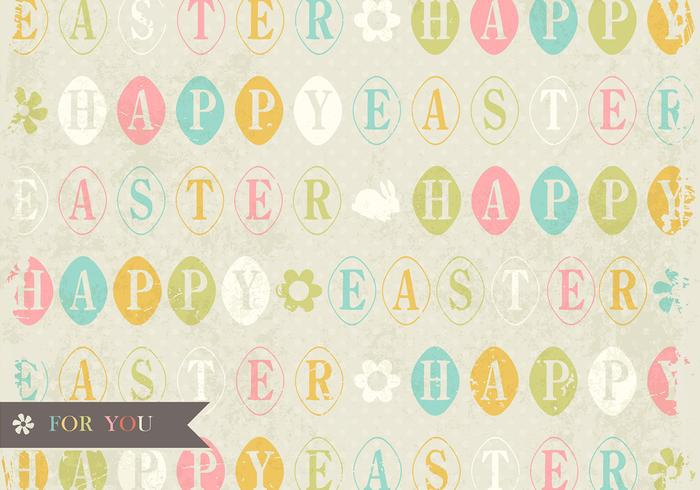 Grungy Easter Vector Background