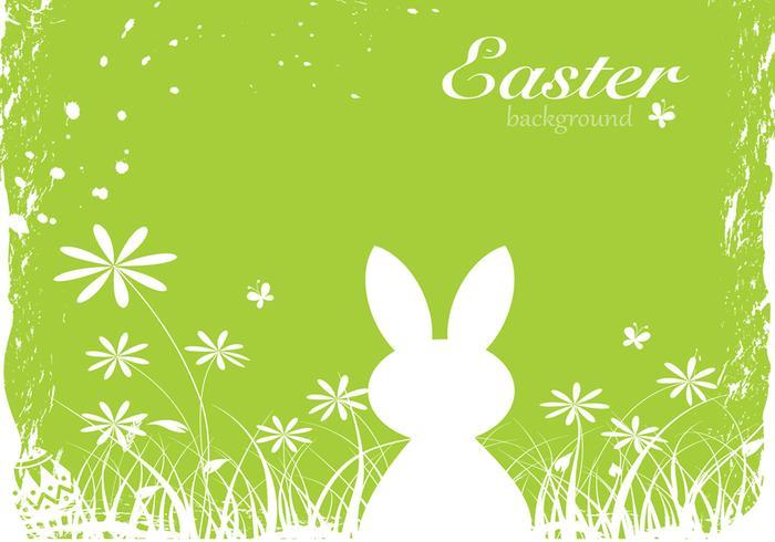 Green Easter Bunny Vector